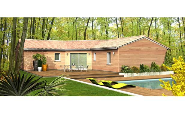 Maison en bois plein pied l 39 habis - Maison en bois plein pied ...