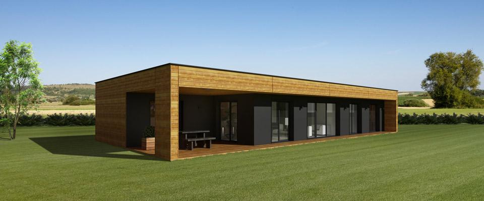 Maison ossature bois toit plat l 39 habis - Plan maison ossature bois toit plat ...