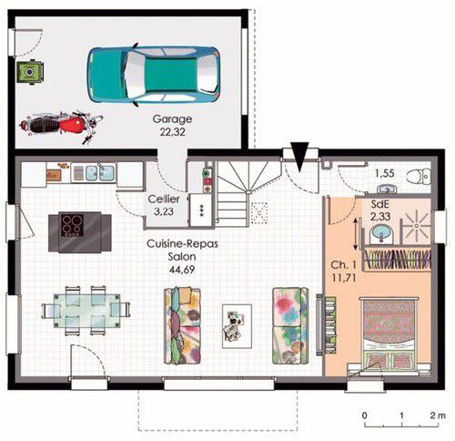 Une plan maison basse consommation l 39 habis for Plan maison basse