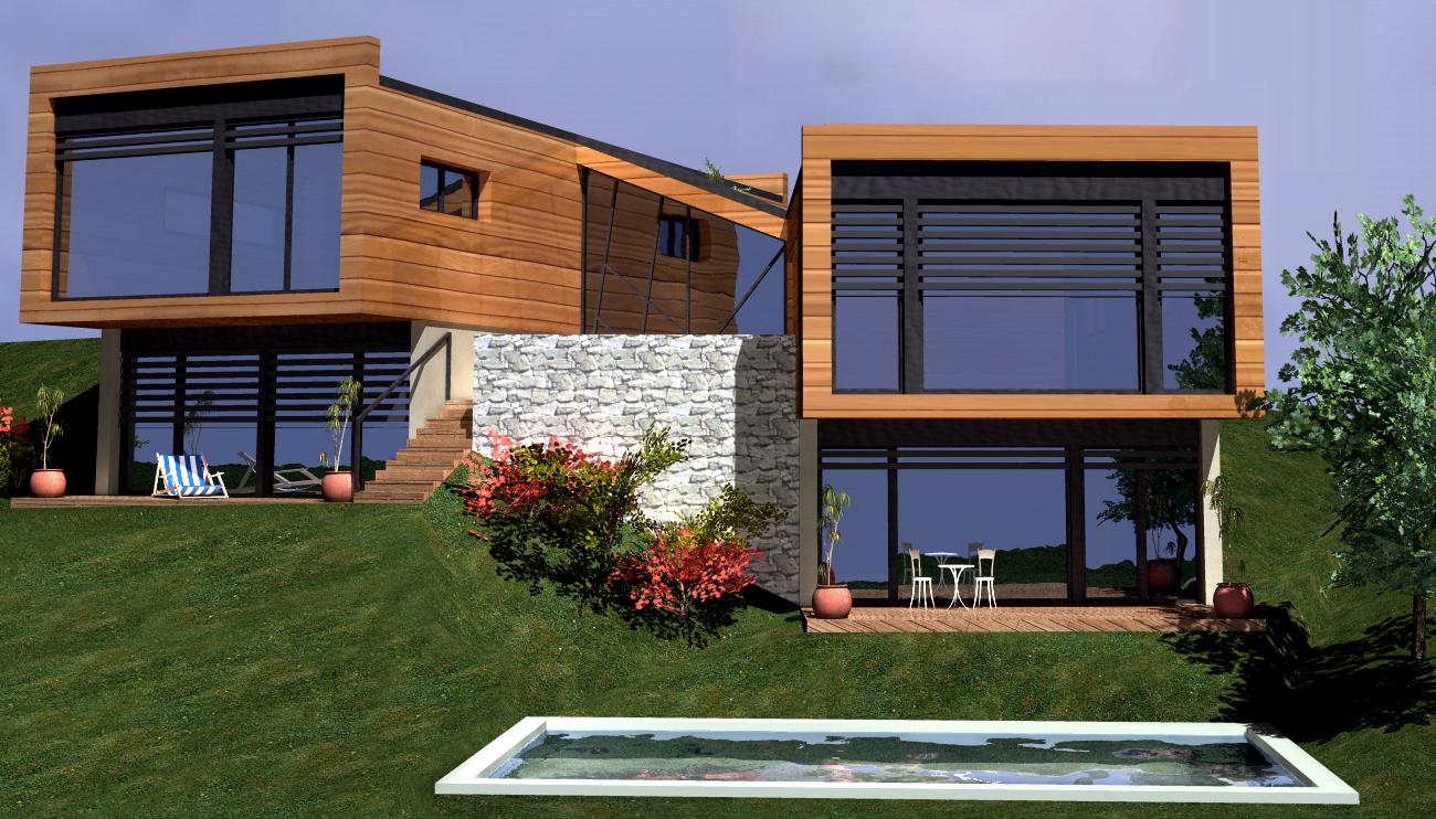 Maison en bois moderne - l\'Habis