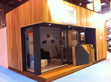 chalet bois 20m2 l 39 habis. Black Bedroom Furniture Sets. Home Design Ideas