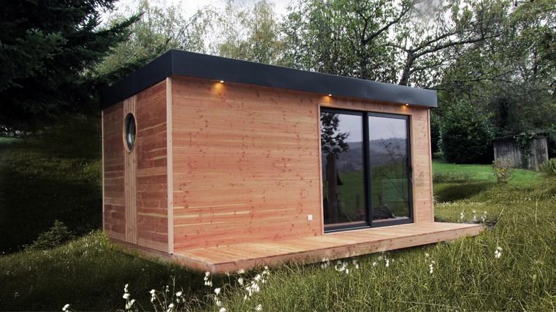 petite maison en bois habitable l 39 habis. Black Bedroom Furniture Sets. Home Design Ideas