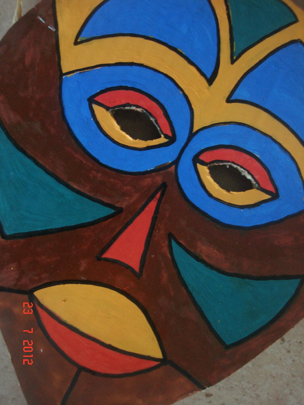 masque africain carton