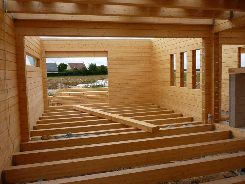 Montage maison bois l 39 habis for Montage maison bois