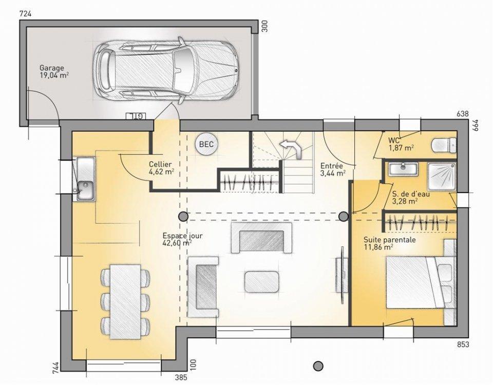 une maison eco concept l 39 habis. Black Bedroom Furniture Sets. Home Design Ideas