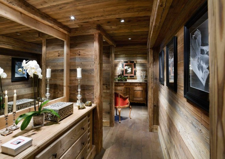 Decoration interieur en bois l 39 habis for Interieur chalet montagne photo