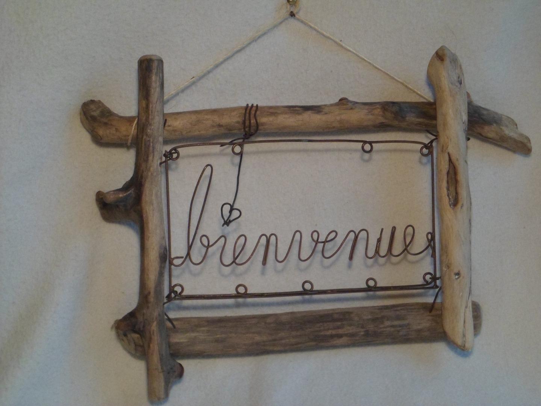 Cadre bois flotté décoration - l\'Habis