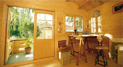 Chalet de jardin habitable 20m2 l 39 habis - Abri de jardin m habitable saint paul ...