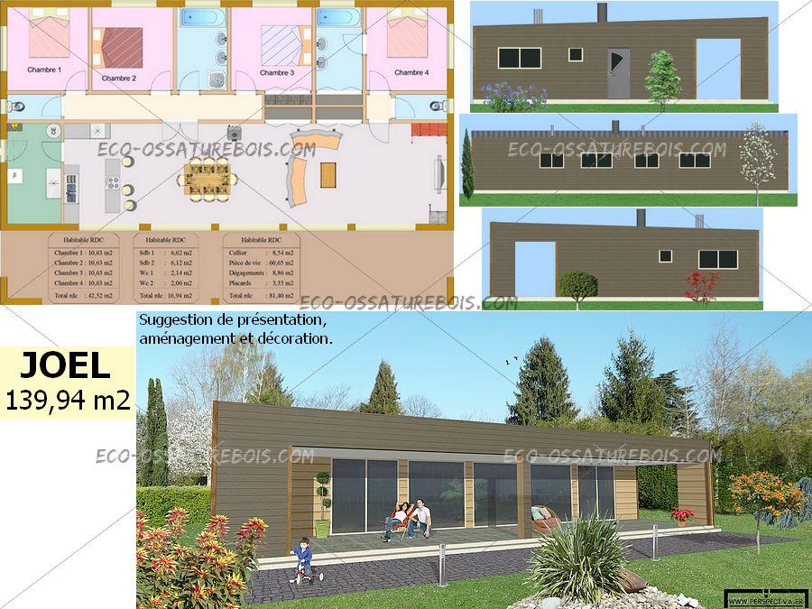 Maison bois plein pied trendy maison en bois en l for Prix maison bbc 120m2