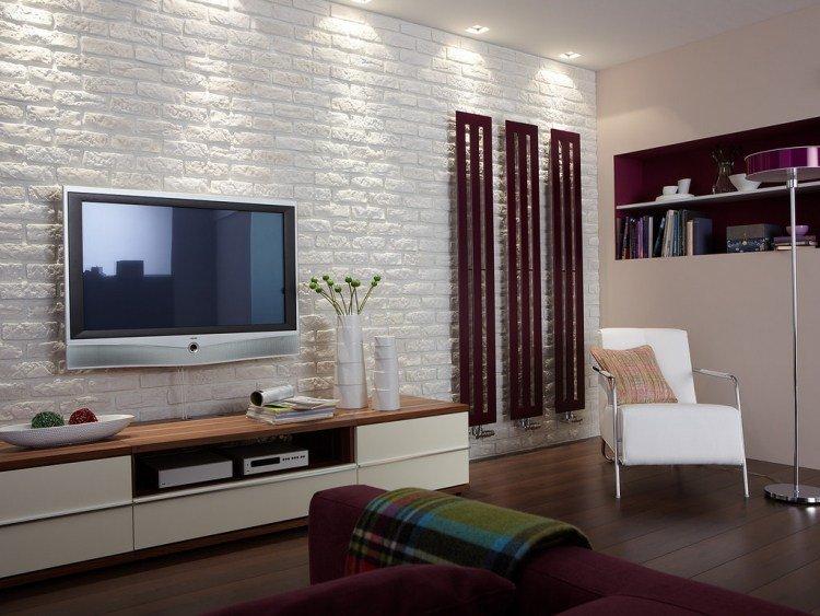 Decoration mur salon en bois - Panneau mural tv ...