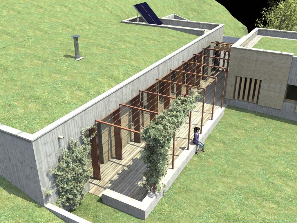 Projet construction maison ici l 39 habis for Maison container sous terre