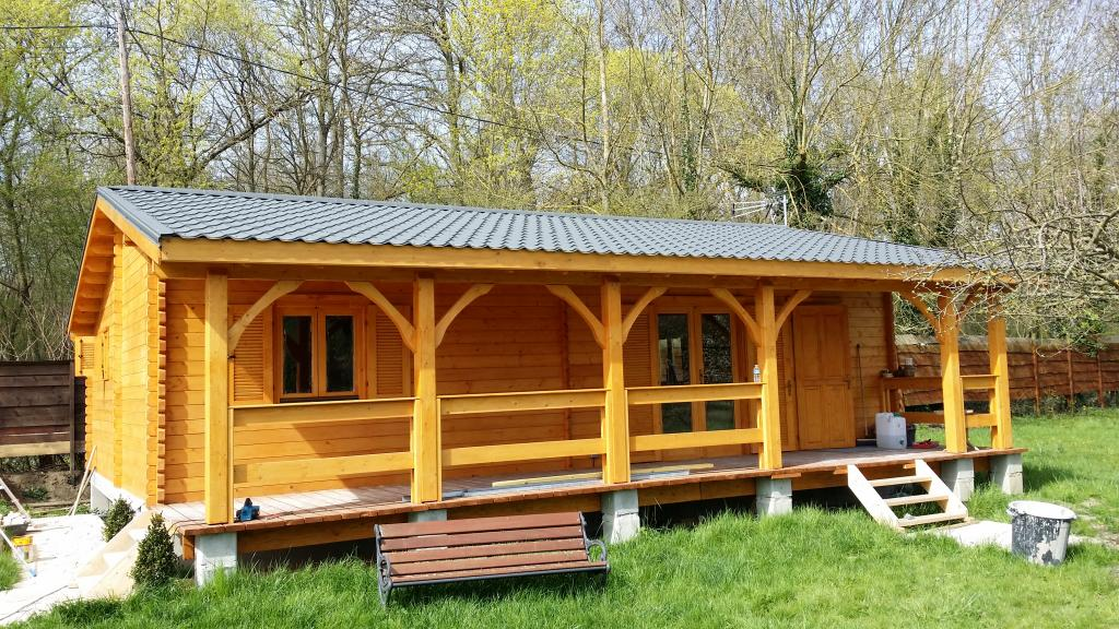 chalet en bois habitable 50m2 l 39 habis. Black Bedroom Furniture Sets. Home Design Ideas