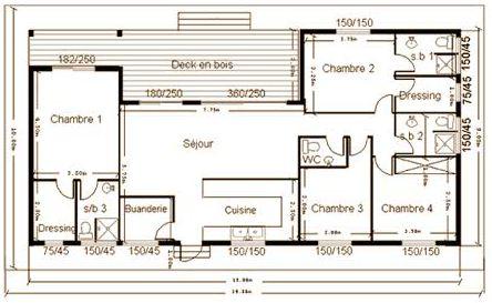plan construction maison l 39 habis. Black Bedroom Furniture Sets. Home Design Ideas