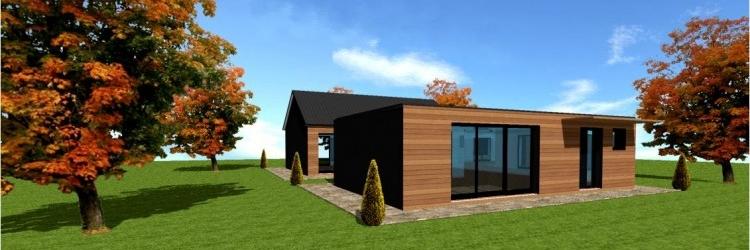 prix maison en bois en kit cl en main l 39 habis. Black Bedroom Furniture Sets. Home Design Ideas