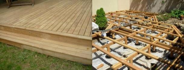 monter une terrasse en bois l 39 habis. Black Bedroom Furniture Sets. Home Design Ideas