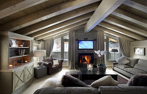Decoration interieur chalet bois - l\'Habis