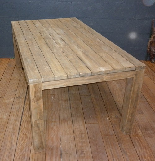Table en teck jardin l 39 habis - Table de salon en teck ...