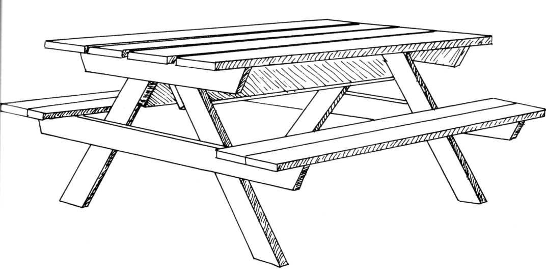Awesome dessin de table de jardin photos design trends for Table exterieur carrefour