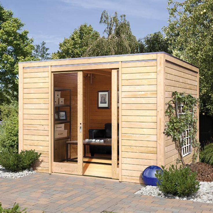 abri de jardin habitable toit plat. Black Bedroom Furniture Sets. Home Design Ideas