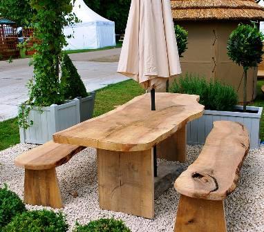 Table jardin bois massif l 39 habis - Dessiner une table de jardin ...