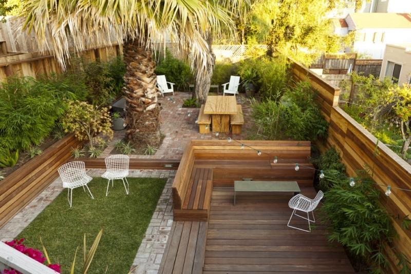Salon de jardin bois et metal - l\'Habis
