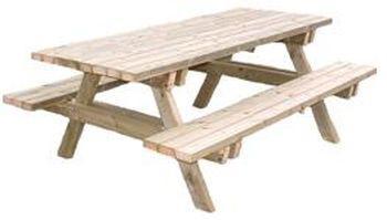 table de jardin avec banc l 39 habis. Black Bedroom Furniture Sets. Home Design Ideas