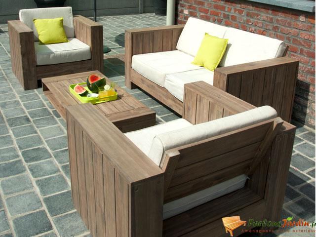 Salon bas de jardin en bois - l\'Habis