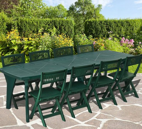 Table jardin pvc l 39 habis for Petite table de jardin pvc