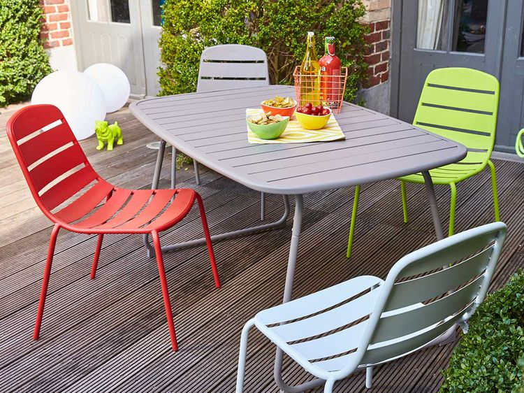 Table de jardin carrefour l 39 habis for Mobilier jardin carrefour
