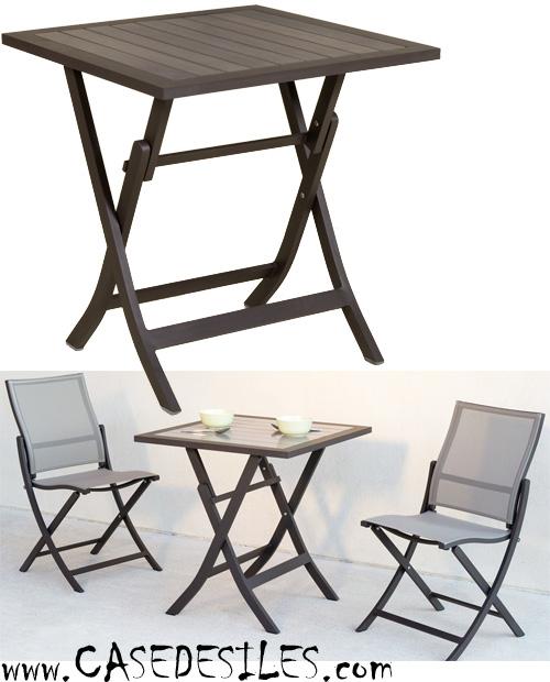 Petite table jardin pas cher l 39 habis - Petite table de salon de jardin ...