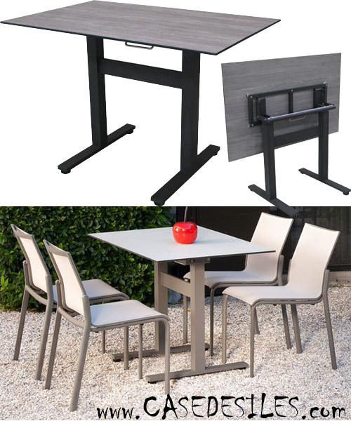 petite table de jardin pas cher l 39 habis. Black Bedroom Furniture Sets. Home Design Ideas