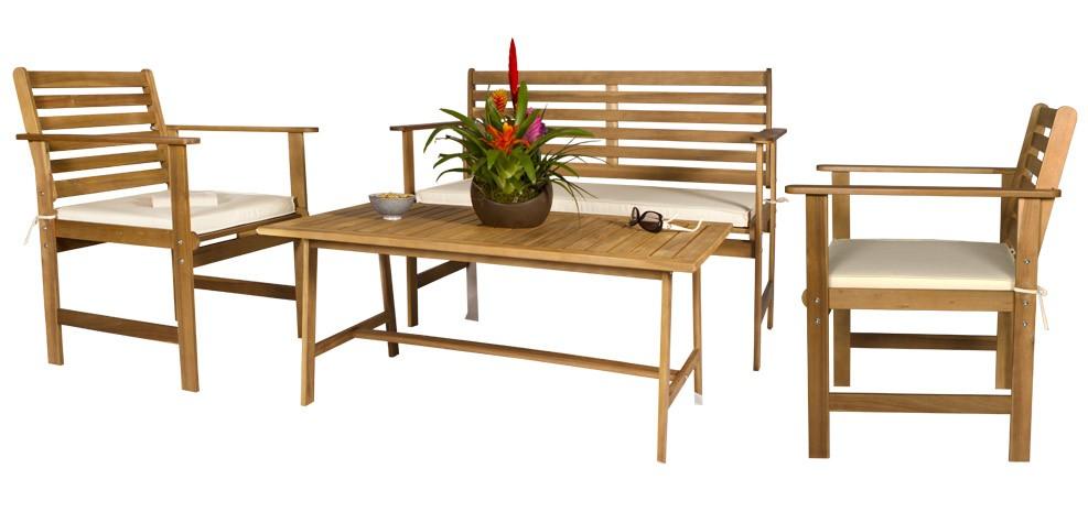 Salon jardin bois pas cher l 39 habis for Mobilier de jardin pas cher en bois