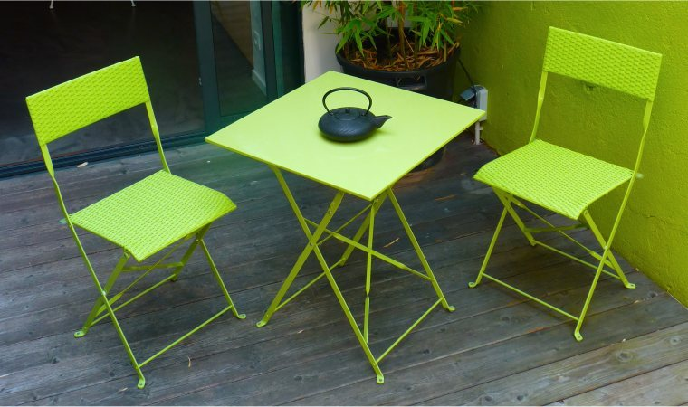 Table et chaise de jardin 2 personnes l 39 habis for Table exterieur 2 personnes
