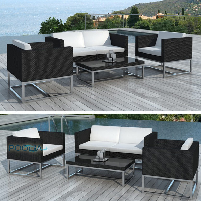 salon de jardin aluminium pas cher l 39 habis. Black Bedroom Furniture Sets. Home Design Ideas