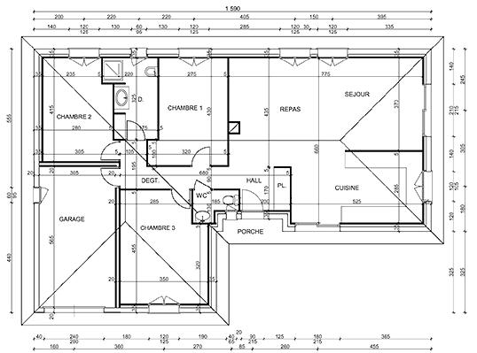 Plan de maison en l l 39 habis - Realiser un plan de maison ...
