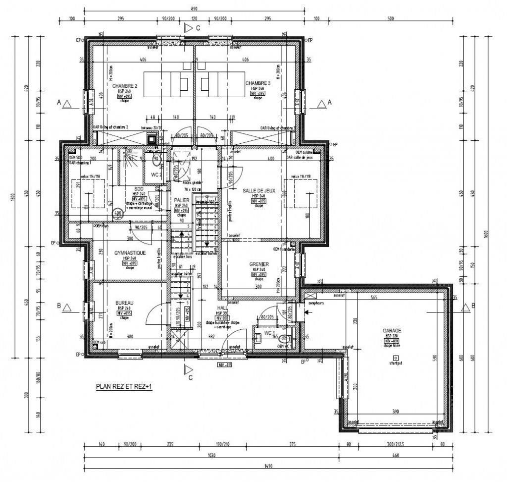 Plan de construction l 39 habis for Construction maison plan