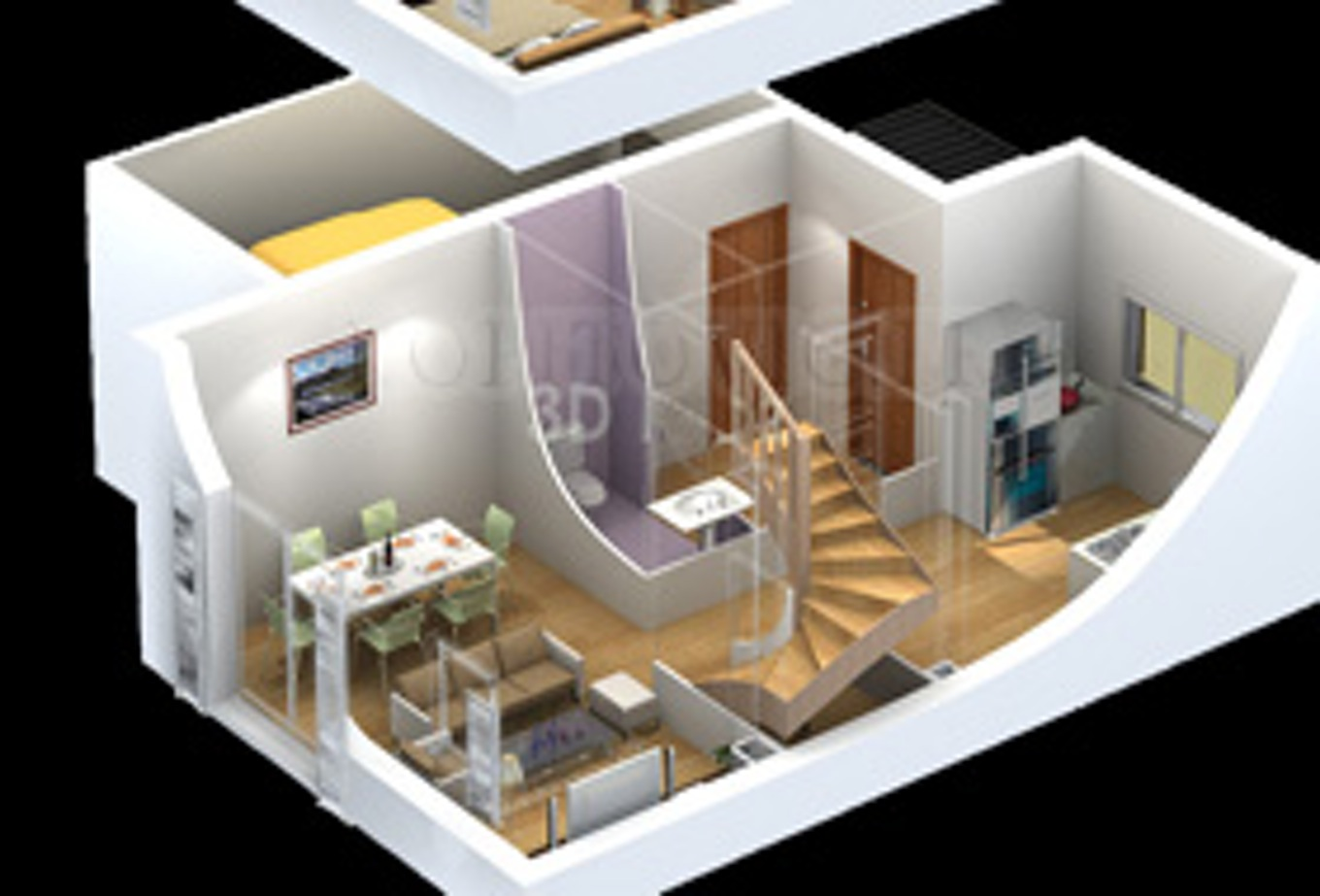 Plan appartement 3d gratuit l 39 habis for Cuisine en 3d facile