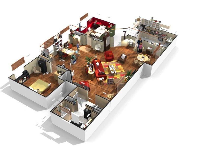 faire un plan de maison en 3d gratuit l 39 habis. Black Bedroom Furniture Sets. Home Design Ideas