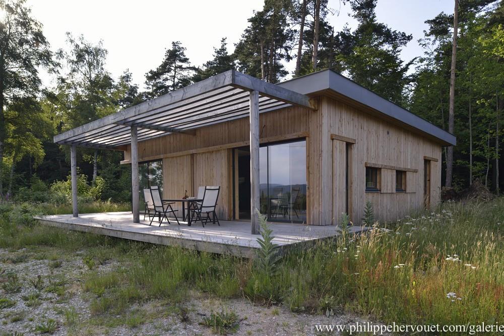 une maison en bois bioclimatique l 39 habis. Black Bedroom Furniture Sets. Home Design Ideas