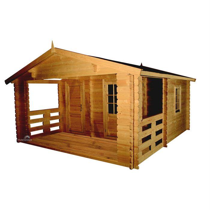 achat chalet bois habitable kit l 39 habis. Black Bedroom Furniture Sets. Home Design Ideas
