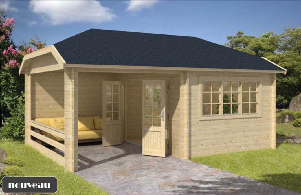 chalet jardin habitable l 39 habis. Black Bedroom Furniture Sets. Home Design Ideas
