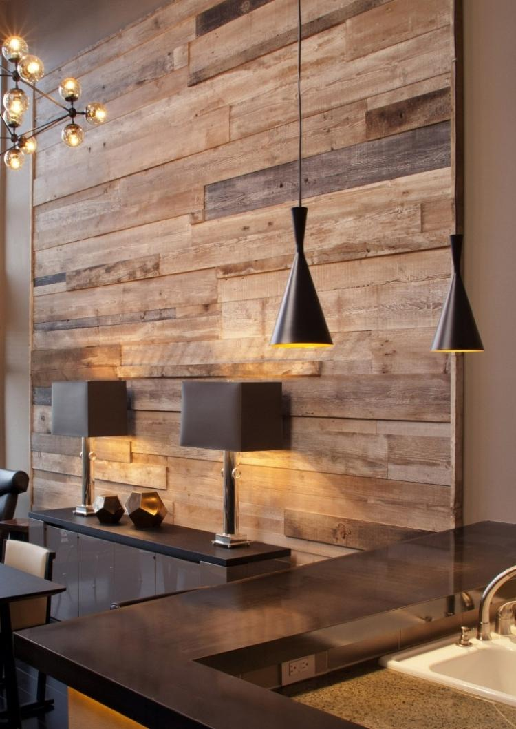 Mur d coratif en bois l 39 habis - Modele de coiffeuse de chambre ...
