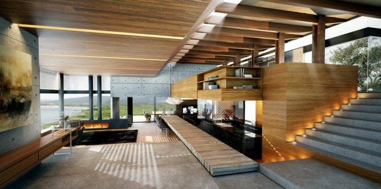Interieur maison bois - l\'Habis