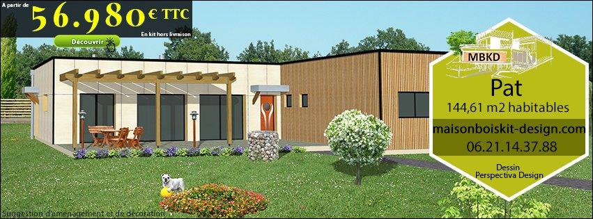 Prix d une maison en bois en kit l 39 habis for Prix maison plain pied 100m2