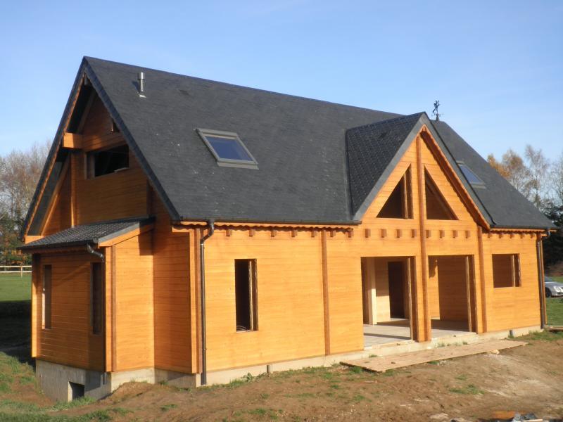 Prix maison bois massif l 39 habis for Maison ossature en bois prix