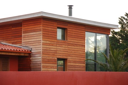 une maison passive bois l 39 habis. Black Bedroom Furniture Sets. Home Design Ideas