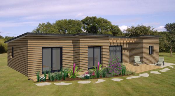 Maison kit bois contemporaine l 39 habis for Maison en kit bois