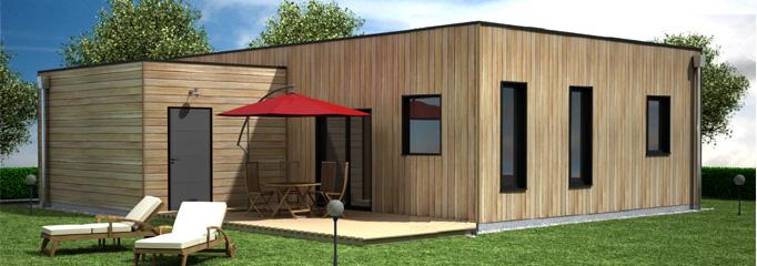 prix maison ossature bois contemporaine l 39 habis. Black Bedroom Furniture Sets. Home Design Ideas