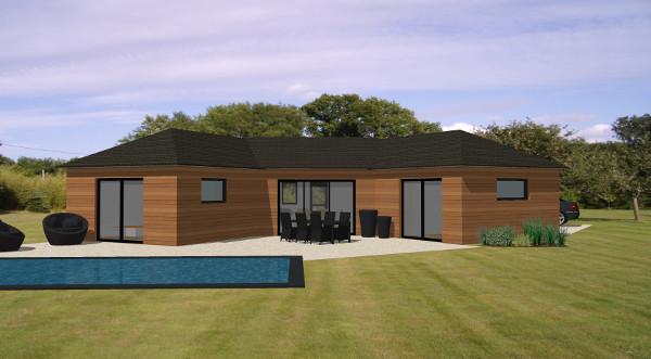 maison en bois plain pied l 39 habis. Black Bedroom Furniture Sets. Home Design Ideas