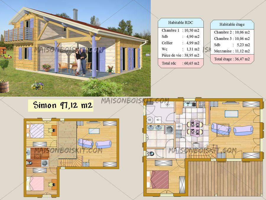 plan de chalet bois l 39 habis. Black Bedroom Furniture Sets. Home Design Ideas
